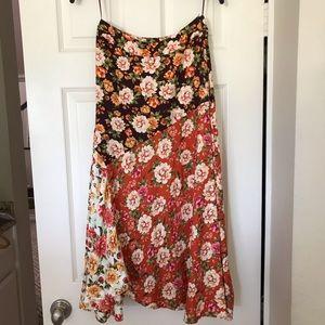 FARM RIO for Anthropologie Floral Midi Skirt (XS)